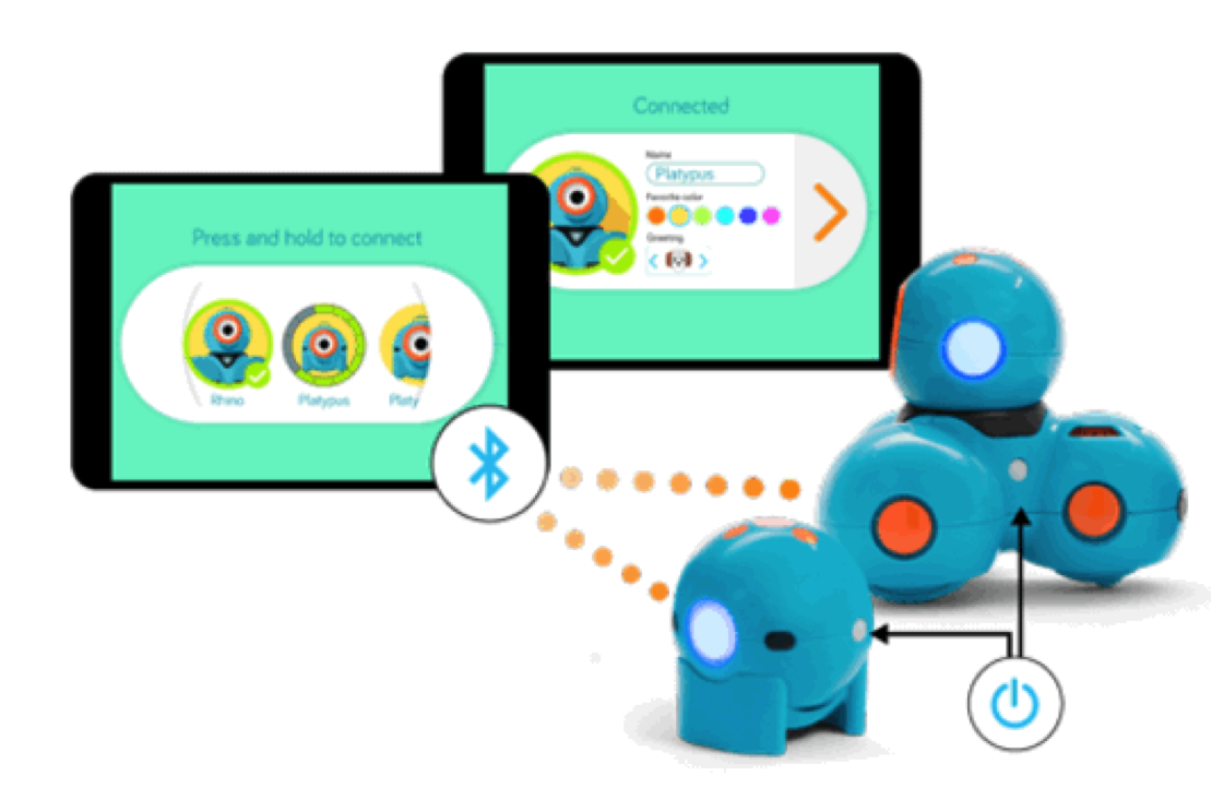 connect dash and dot to tablet via bluetooth