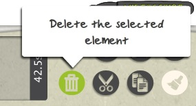 delete selected element