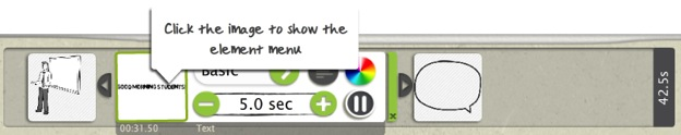 Click the image to show the element menu