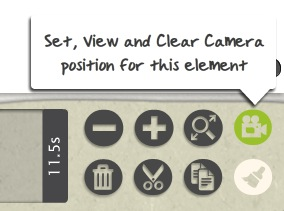 Set,view and clear camera position for this element