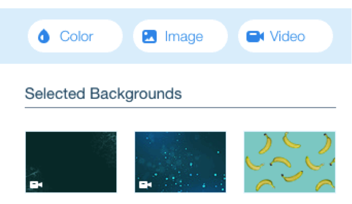 Wix background options